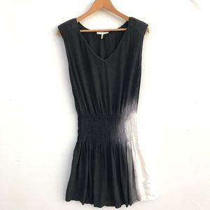 Maje Ombré Dress In Black and White